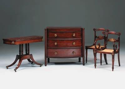 A Regency mahogany and brass-i