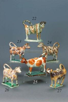 An English pearlware cow cream