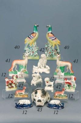 An English porcelain hound's h