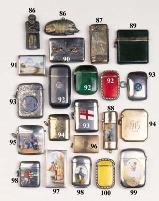 A silver vesta case