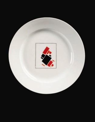 A Soviet Suprematist porcelain