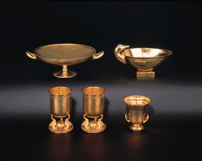 A group of Greek silver-gilt p
