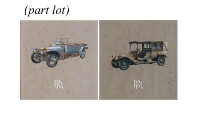 A group of five original paint