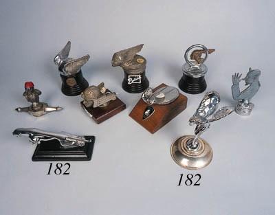 a group of european hood ornaments including jaguar rolls. Black Bedroom Furniture Sets. Home Design Ideas