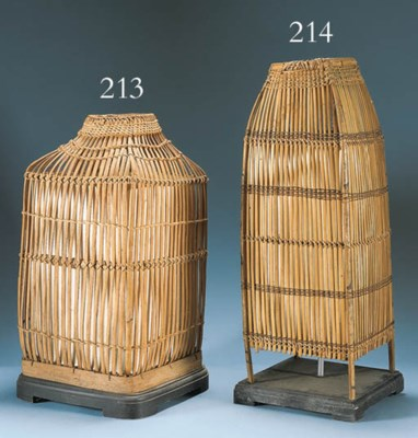 A BAMBOO JAPANESQUE TABLE LAMP