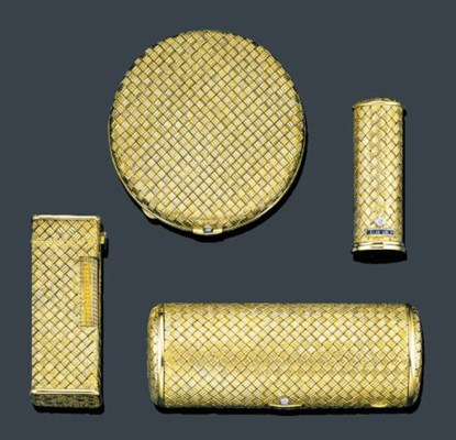 A SUITE OF 18K YELLOW GOLD, DI