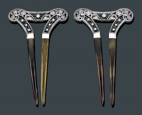 A PAIR OF BELLE EPOQUE 18K WHI