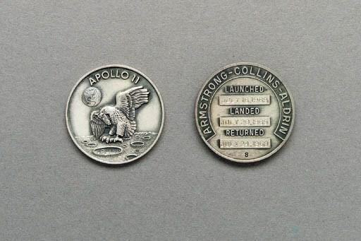silver medallion apollo 11 coin - photo #28