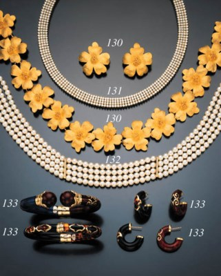 SUITE OF CULTURED PEARL AND DI