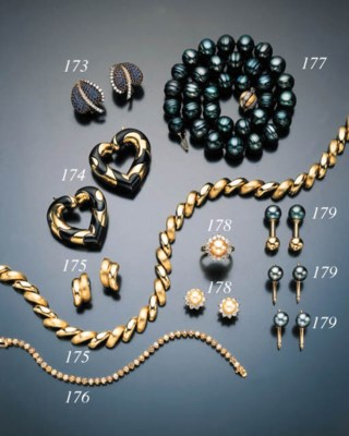 GROUP OF CULTURED PEARL AND DI