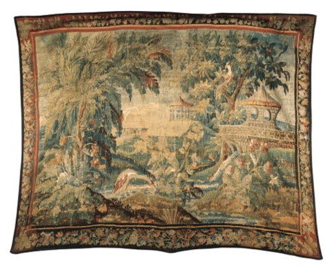 AN AUBUSSON ROCOCO CHINOISERIE