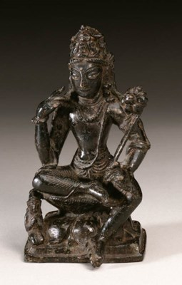 A rare bronze figure of Padmap