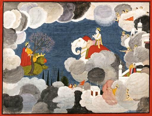 Krishna and Satyabhama return