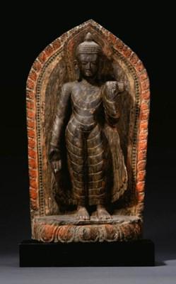 A stone stele of Buddha Shakya