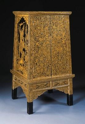A black and gold manuscript ca