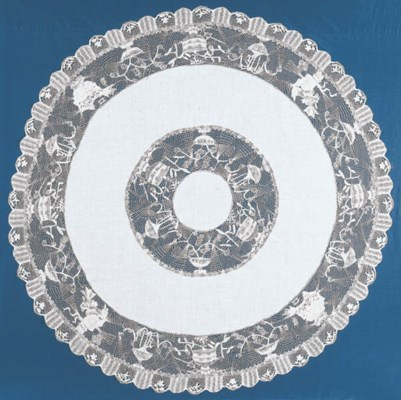 A LACE TABLECLOTH