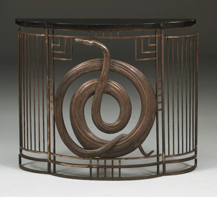 A WROUGHT-IRON RADIATOR GRILLE