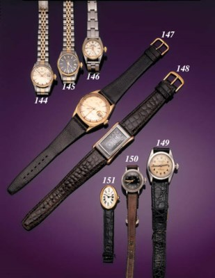 ROLEX.  AN EARLY LADY'S STAINL
