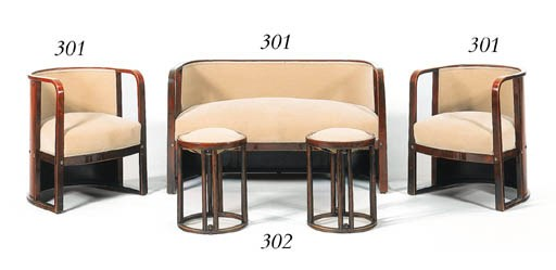 A PAIR OF BENTWOOD STOOLS