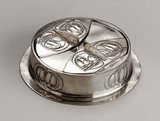 A PEWTER INKSTAND