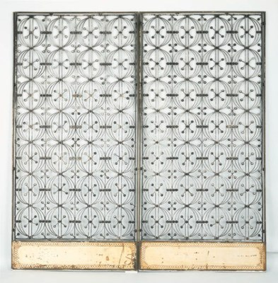 TWO IRON ELEVATOR GRILLES
