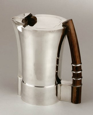 A SILVER AND ROSEWOOD COLD DRI