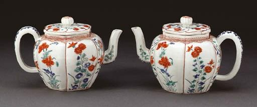 Two Porcelain Tea Pots