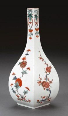 A Faceted Porcelain Bottle