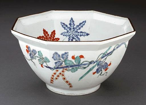 An Octagonal Porcelain Bowl