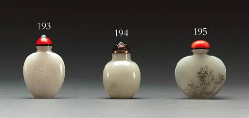 A White Jade Flattened Ovoid B