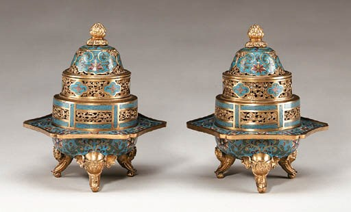 A Pair of Four-Part Cloisonn E