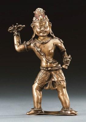 A Bronze Figure of Vajrapani (