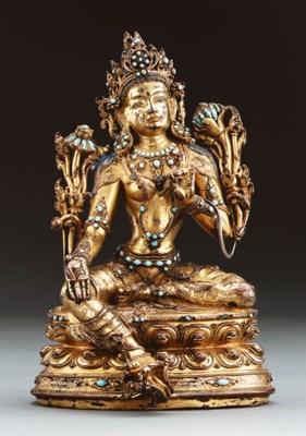 A Important Gilt Bronze Figure