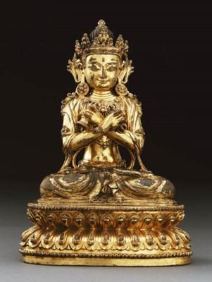 A Rare Gilt Bronze Figure of V