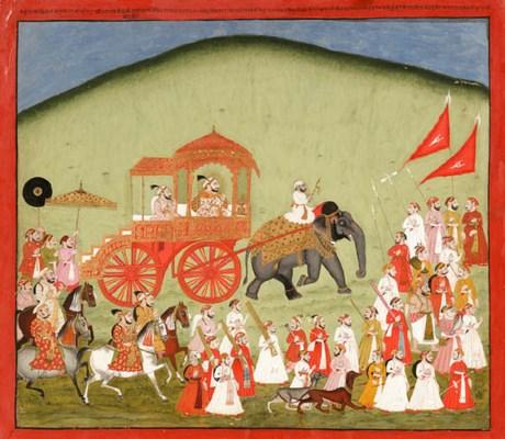 Maharana Sangram Singh II in a