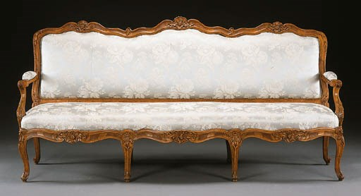 A LOUIS XV WALNUT AND BEECHWOO