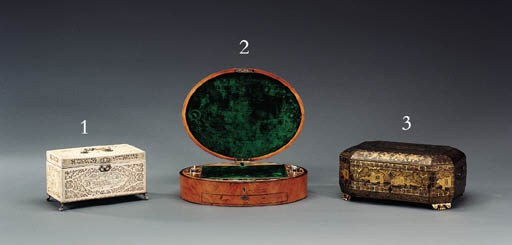 A CHINESE SILVER-MOUNTED CARVE