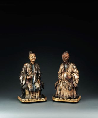 A PAIR OF CHINESE-EXPORT POLYC