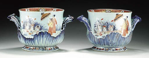 A RARE PAIR OF PRONK PORCELAIN
