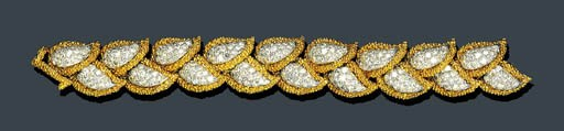 DIAMOND AND GOLD FOLIATE BRACE