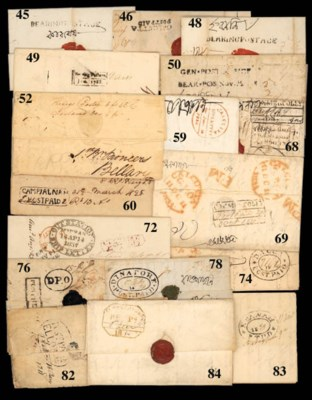 cover Dacca: 1834 (9 Apr.) to