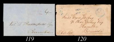cover 1852 (19 Aug.) entire le