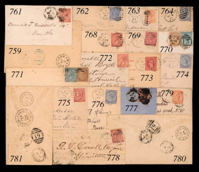 cover 1886 (18 Aug.) 1½d. card