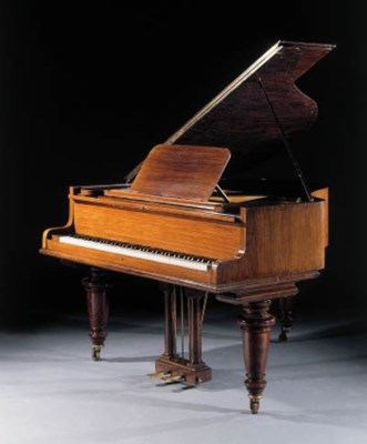 A baby grand piano john broadwood sons london for Baby grand piano height