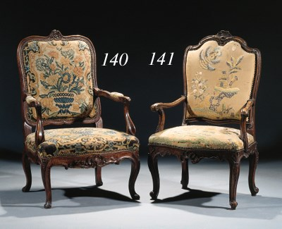 A German walnut armchair