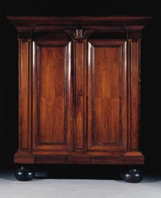 A Dutch rosewood cupboard