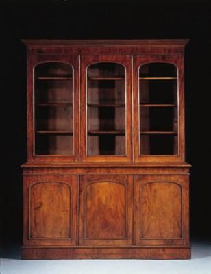 An English mahogany library bo