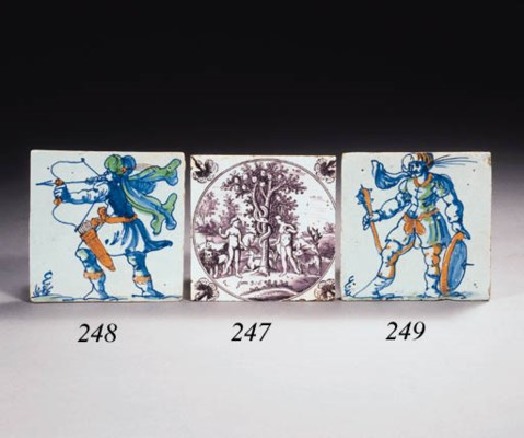A Dutch Saracen warrior tile