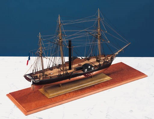 A fine planked and rigged 1:75
