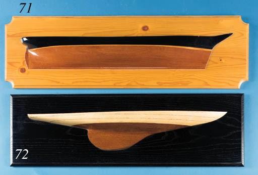 A 1:16 scale half block model